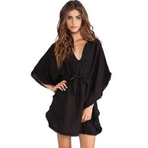 Michael Stars Babette Black 100% Linen Dress.
